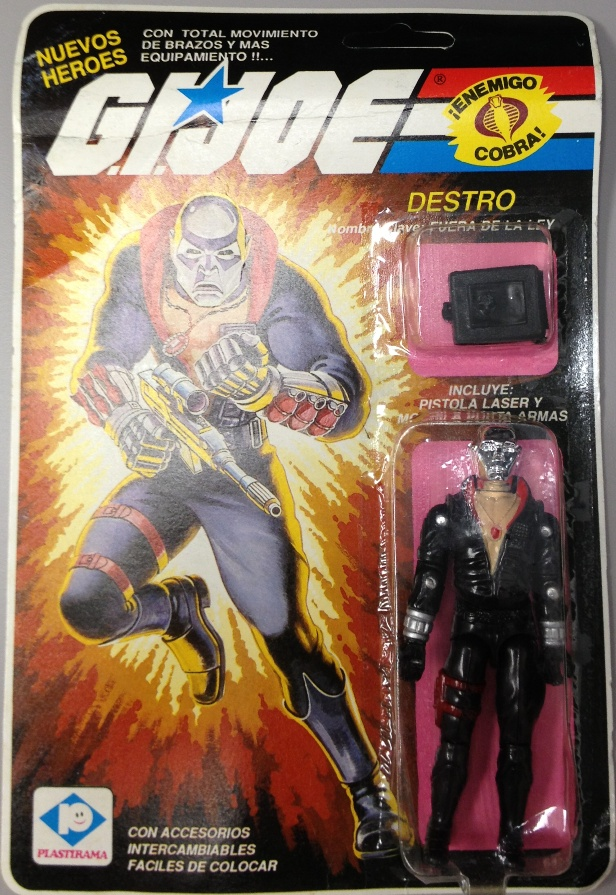 Fuera de la Ley - Plastirama Exclusive Destro, Argentina, MOC, 2003 Scarlett, Snake Eyes, Black Major Cobra Mortal Bootleg