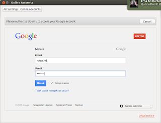 Integrasi Google dengan Ubuntu