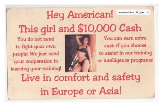Vietcong propaganda posters targeting American soldiers Vietnam War