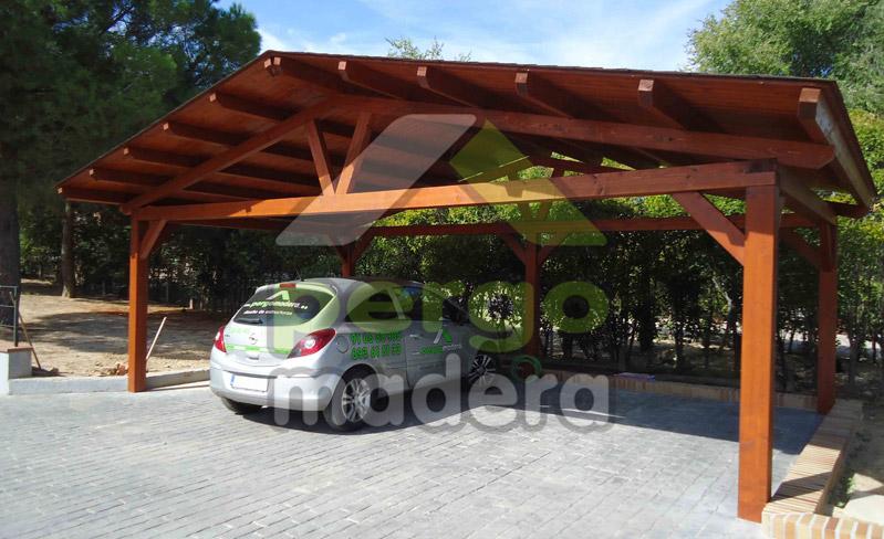 Pergomadera estructuras de madera garajes - Garajes prefabricados de madera ...