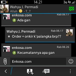 Ongkos kirim Jne ke alamat Wahyu J Permadi enkosa sport toko online terpercaya lokasi di jakarta