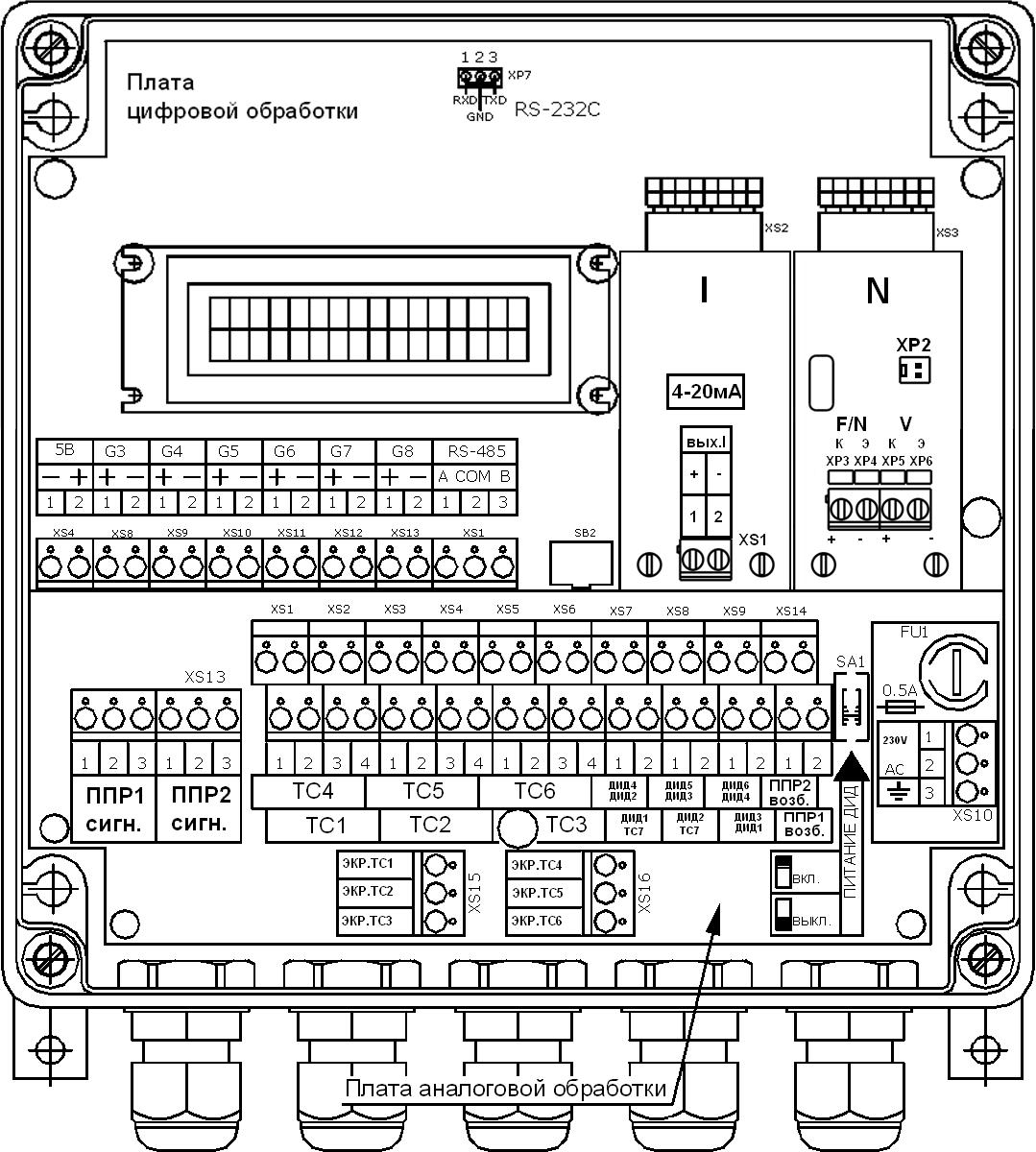 схема подключения дадчиков тэм 104