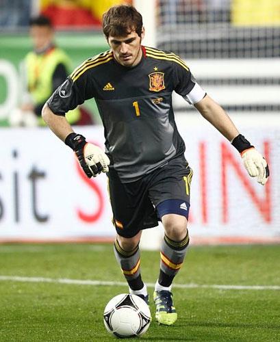 segunda equipación selección española eurocopa 2012 Iker Casillas