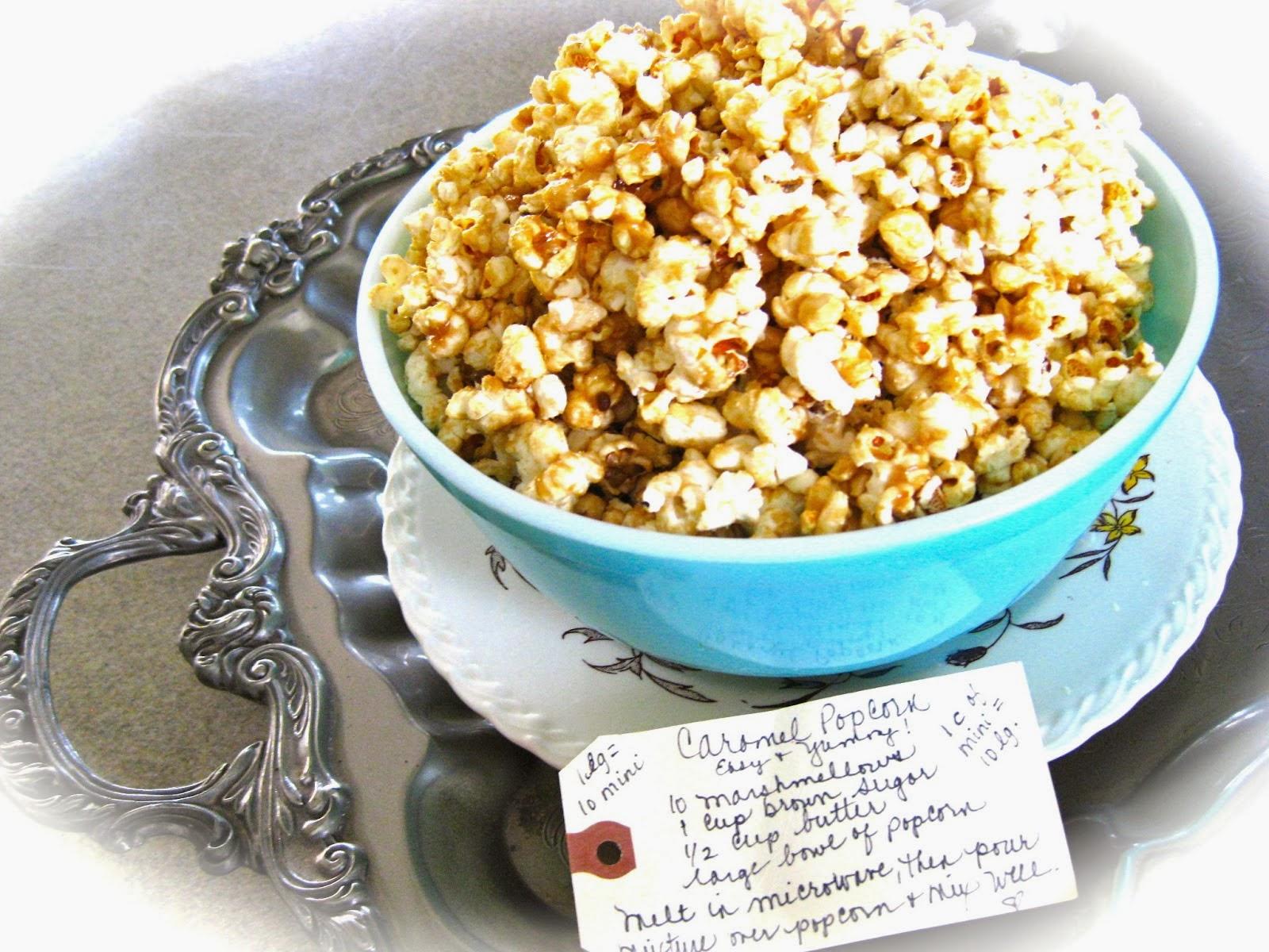 Easy caramel popcorn!