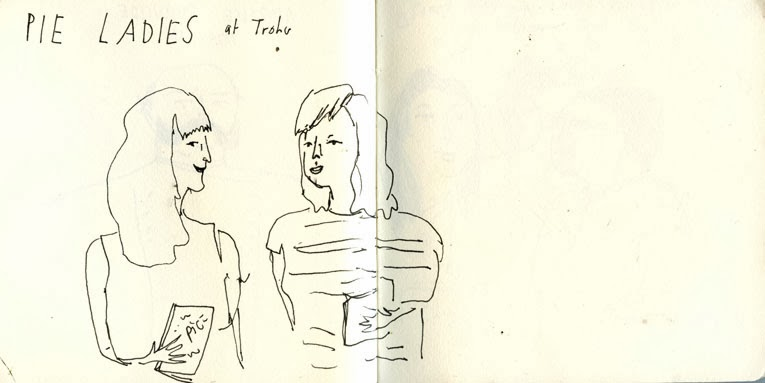 Pie Ladies at Trohv Illustration by Elizabeth Graeber