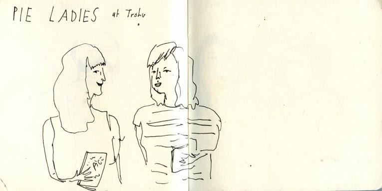 Pie Ladies at Trohv Illustration by Elizabeth Graeber