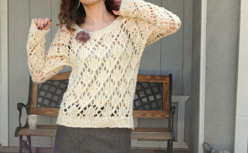 Lace Knitting Patterns For Sweaters : Sew knit me marshmallow lace free knitting pattern
