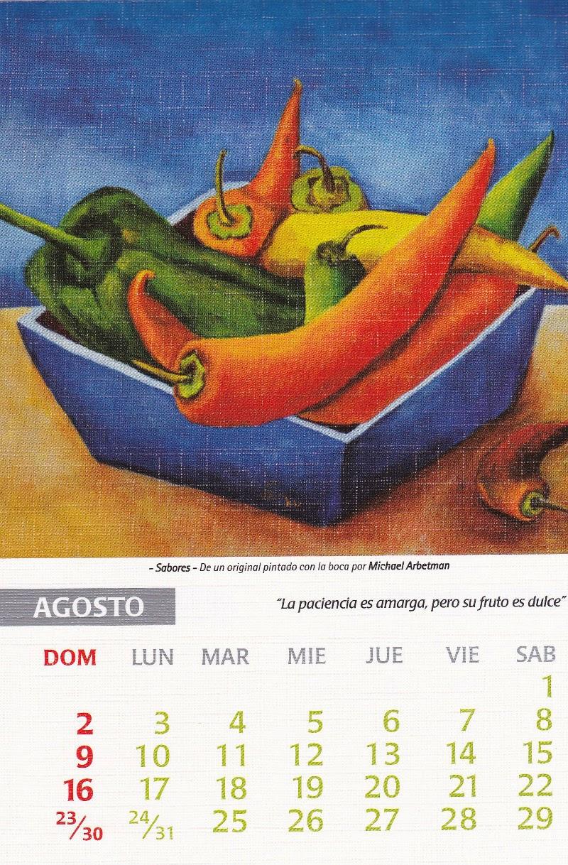 calendario 2015 agosto