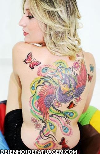 Tattoo fenix na loirinha