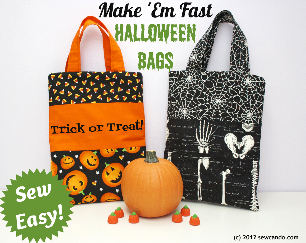 sew can do: sew easy: halloween treat bags in under 20 minutes!