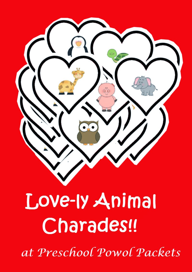 love ly valentines animal charades u0026 free cards preschool