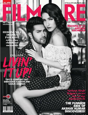 Varun Dhawan and Shraddha Kapoor Poses for  ‎Filmfare‬  Magazine‬ July 2015