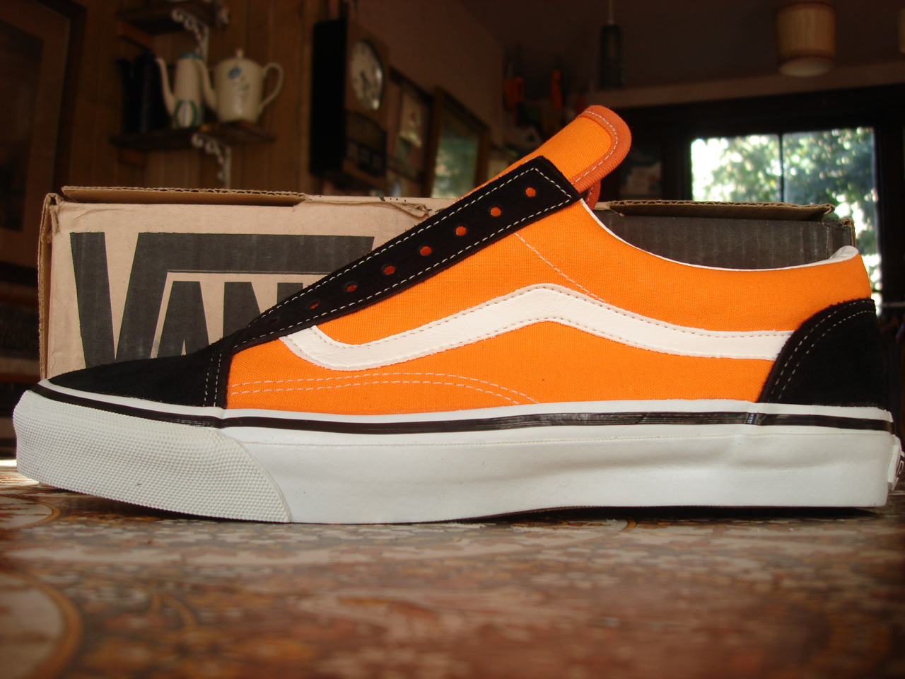 theothersideofthepillow vintage vans neon orange canvas. Black Bedroom Furniture Sets. Home Design Ideas