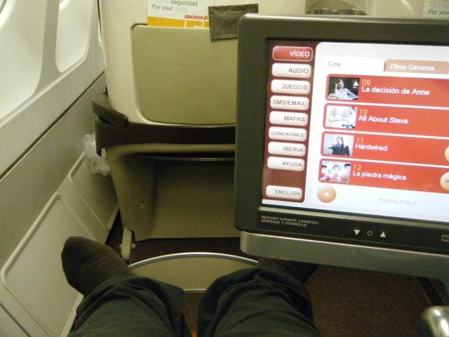 Disfrutando de primera con la Aerolínea de Iberia