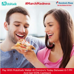 Get 15% Cashback (Max Rs 100) On Domino via Mobikwik : Buytoearn