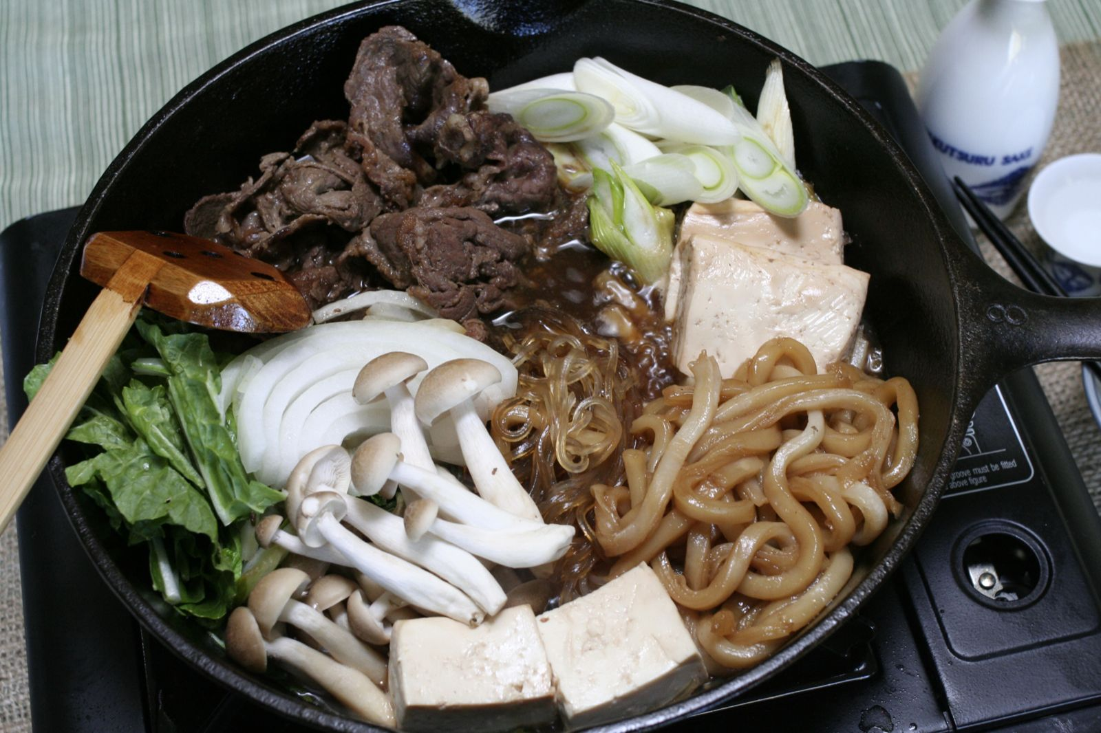 didn't eat Sukiyaki cooked at the table until I had it at the ...