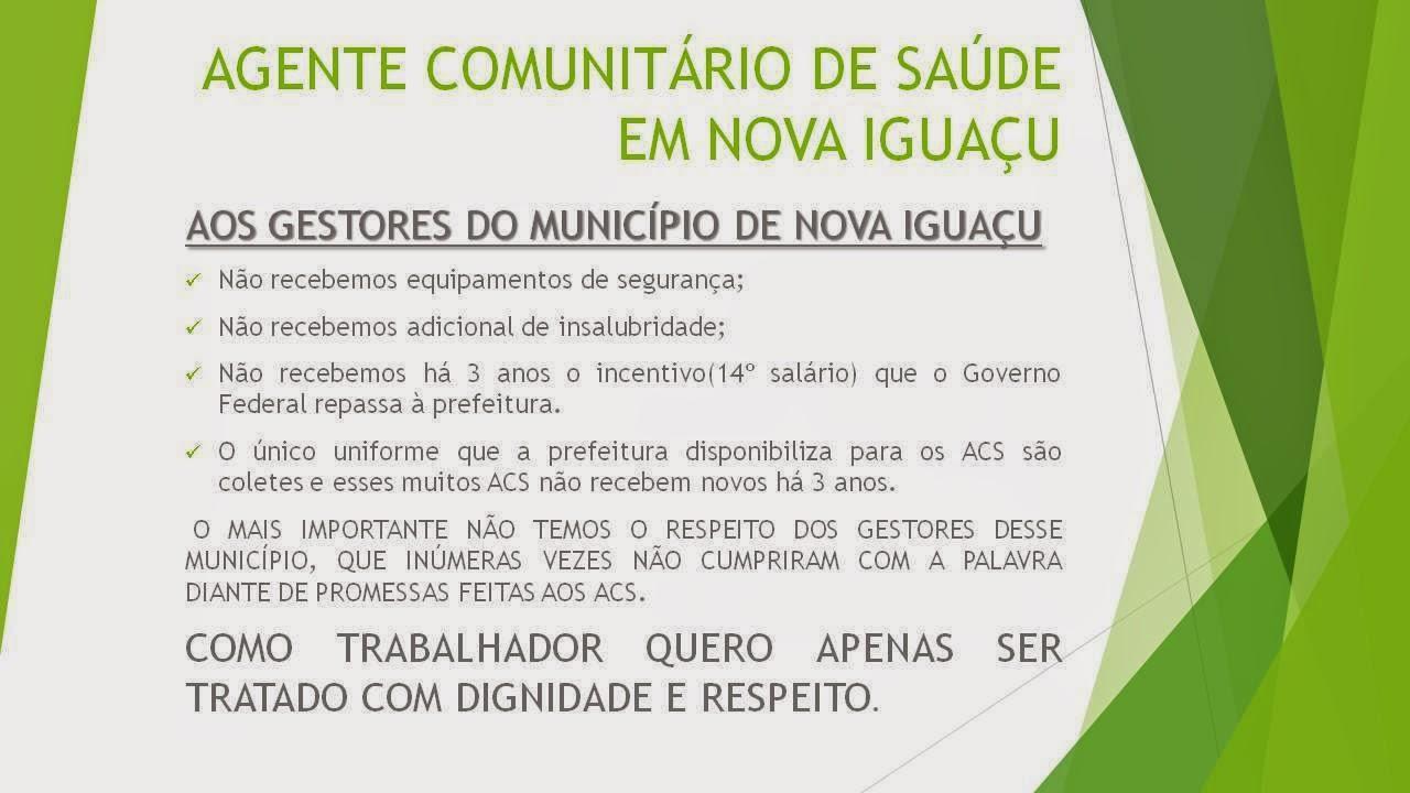 asc%2Bnova%2Bigua%C3%A7u Agentes Comunitários usam redes sociais para mandar recado aos gestores de Nova Iguaçu / RJ