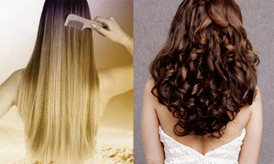 How to make straight hair curly