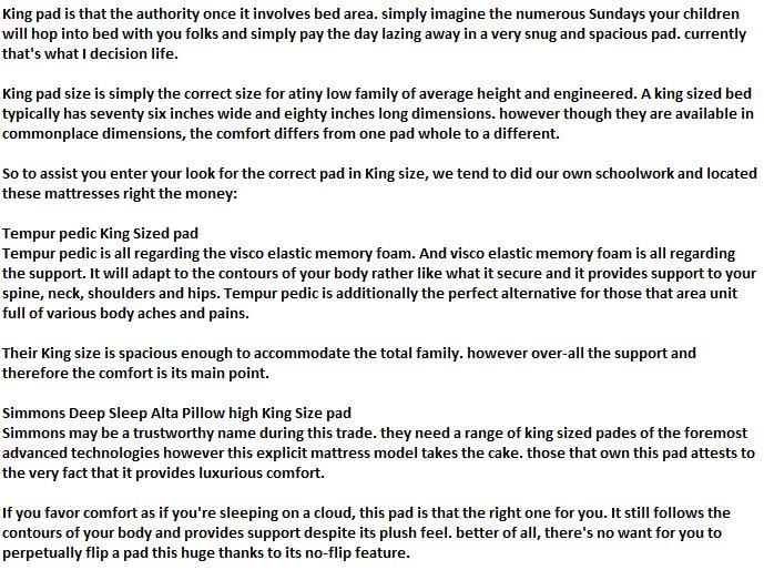 King Mattress Size king single mattress size