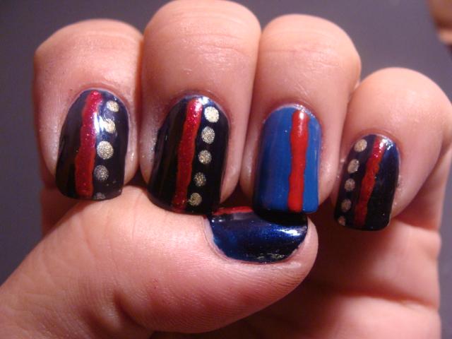 Marine Corps Nails Dress Blues Nail Art View Images