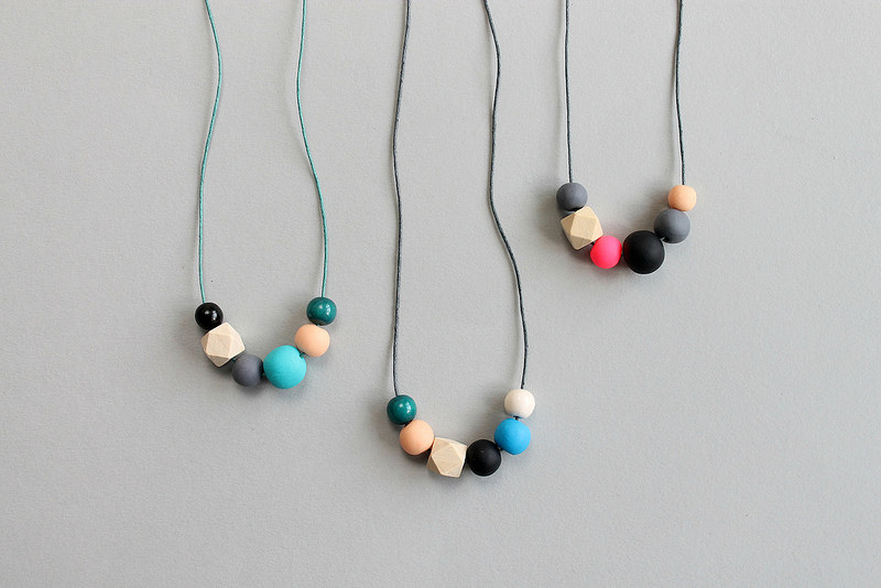 DIY polymer clay and copper tube necklaces