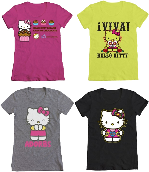 Hello kitty t shirts for adults sexy stripers for Hello kitty t shirt design