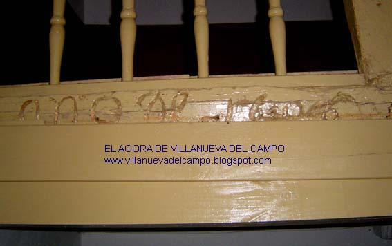 Inscripción en la viga del antiguo Coro: Año de 1606