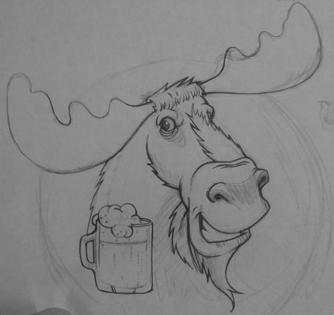 Create A Blog Moose Head Sketches