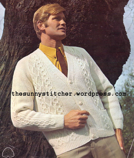 1960's Knitting - Man Appeal With The Aran Look free pattern