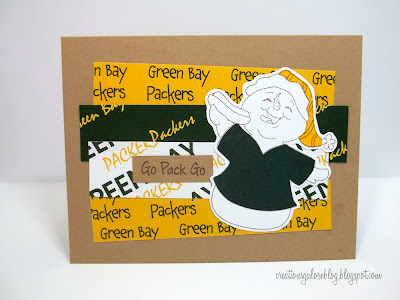 Go Pack Go Homemade Card