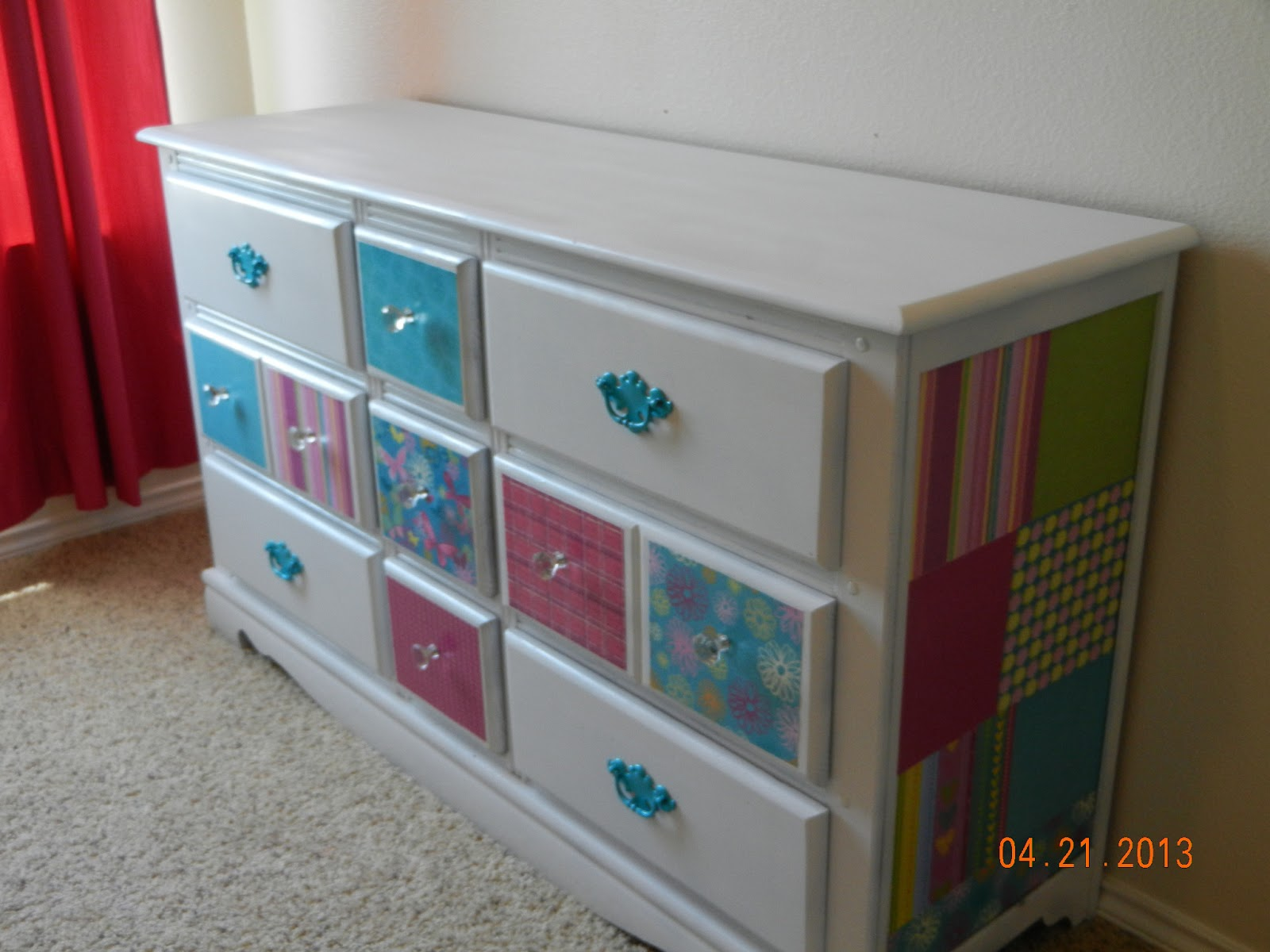 Look What I Made A Mod Podge Dresser