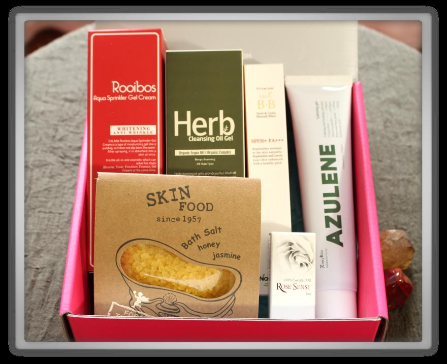 겟잇뷰티박스 by 미미박스 memebox beautybox superbox #31 herbal cosmetics box unboxing review preview look inside