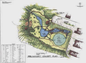 conceptual plan of Buttermilk Creek Park, Montague
