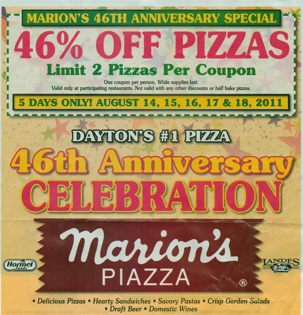 Restaurant coupons dayton ohio