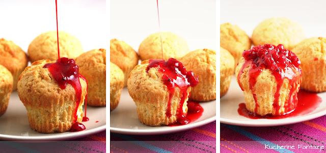 muffiny, muffina, jogurtowe, maślane, konfitura, porzeczkowa