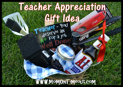 teacher appreciation gift, male teacher gift, grill themed set