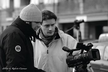 Maurizio sul set di un documentario