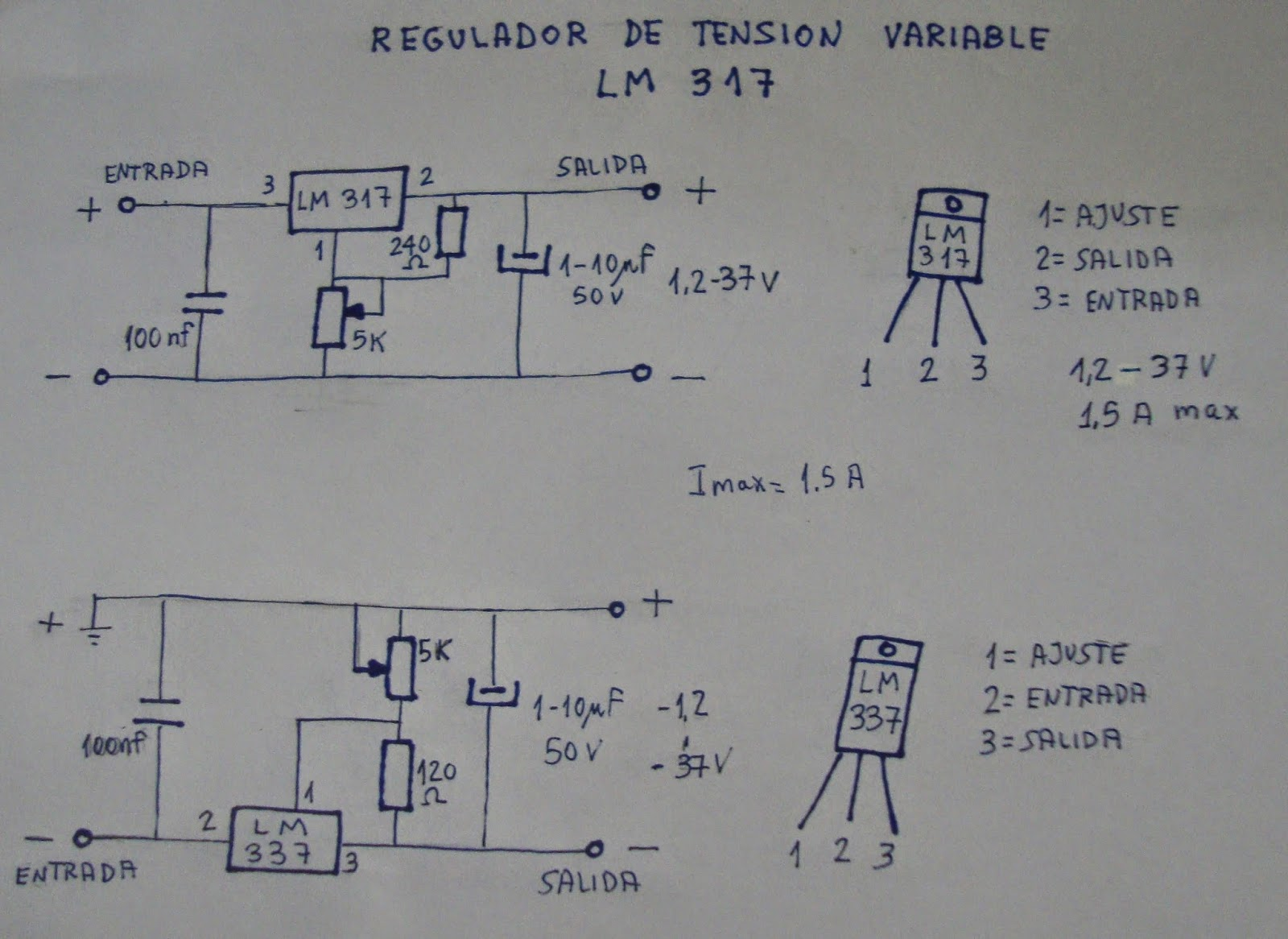 37v 1,5a nos 10 trozo lm317 to-220 regulador de voltaje 2,2v