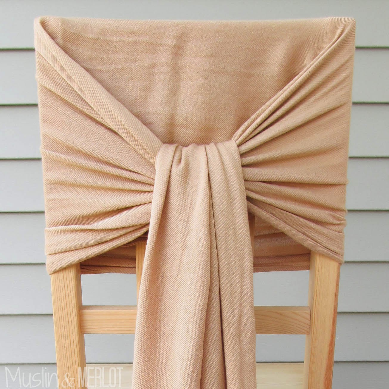 How To Decorate Chairs With Scarves Muslin And Merlot Diy Chair Covers For Baby Shower Folding No Sew Back