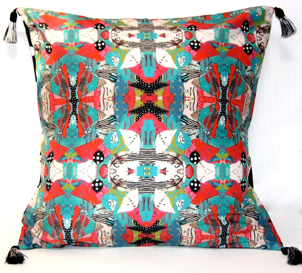 Turquoise Bird Pillow