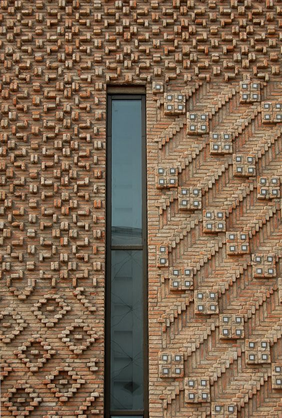 Reclaimed brick tile patterns from ordinary to for Exterior brick design patterns