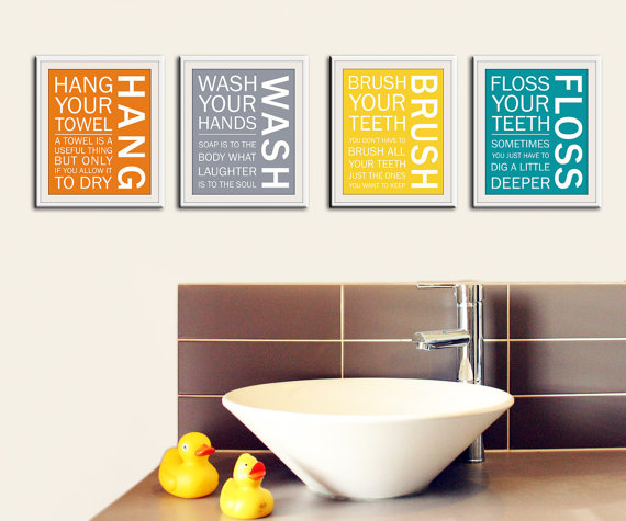 Aunt jesse said so nursery wall art by wall art by small fry for Bathroom decor rules