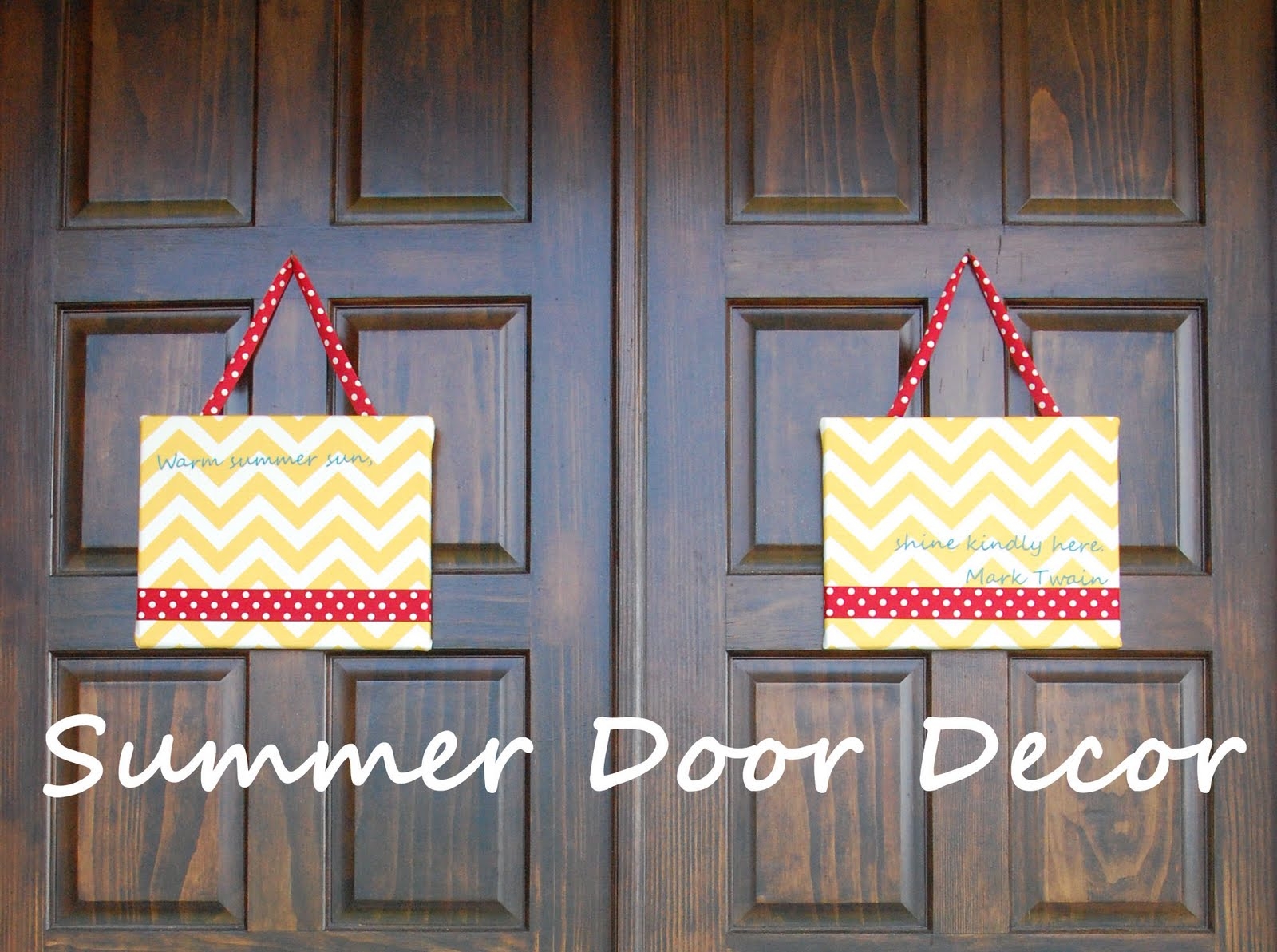 front door decor summerRandom Thoughts of a SUPERMOM Summer Door Decor