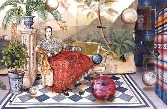 Julio Galán Retrato de Elizabeth