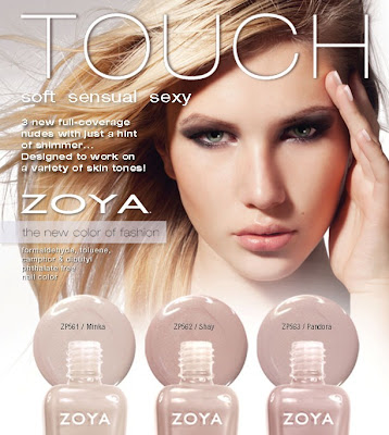 Zoya Touch nude nail polish launch RGB Nude Attitude: Zoya Touch Collection