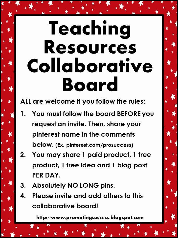 Collaborative Teaching Resources ~ Click here to follow the teaching resources collaborative
