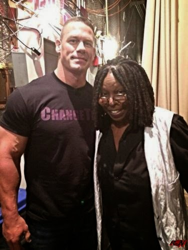 John Cena Hanging Out with Whoopi Goldberg.
