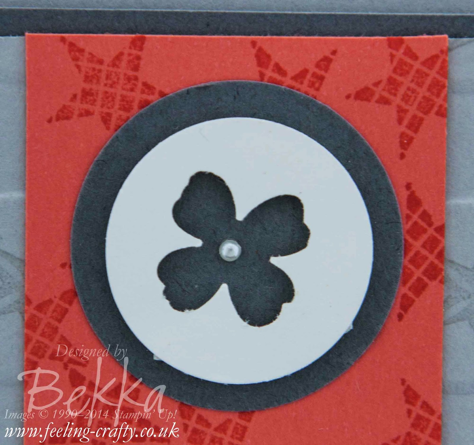 Pictogram Punches Card by Stampin' Up! UK Demonstrator Bekka Prideaux
