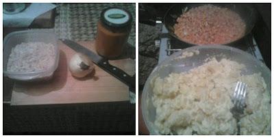 Preparación Tortilla de patatas vegana