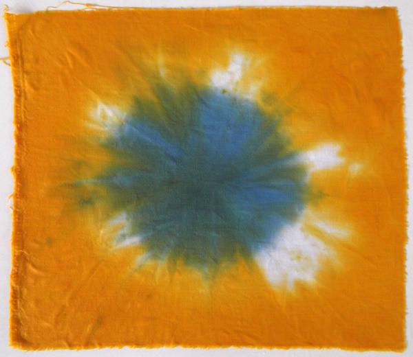 βαμμένο ύφασμα, ζωγραφική στο ύφασμα, shibori, tie and dye